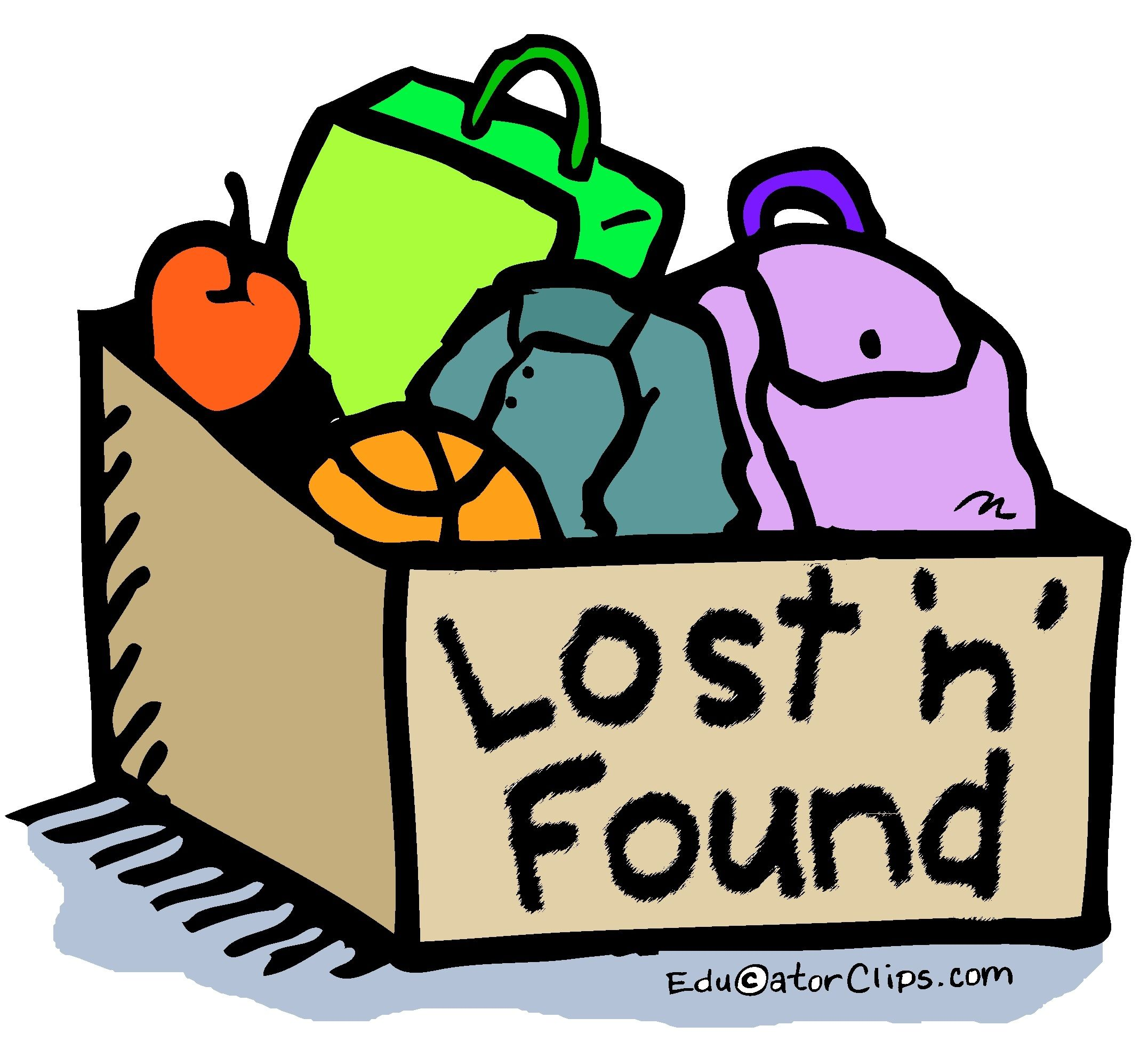 Lost and Found Box Clip Art by Mark A. Hicks.