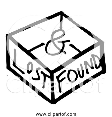 Free Clipart of Lost and Found Box.