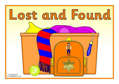 Lost Property / Lost and Found Signs (SB7842).