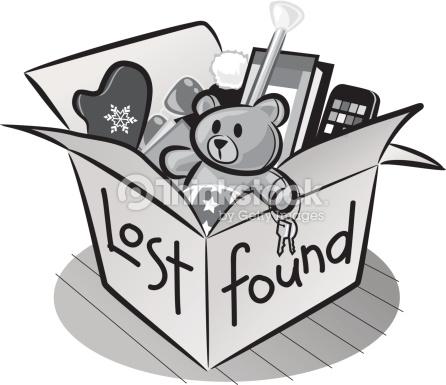 Lost & found box clipart.