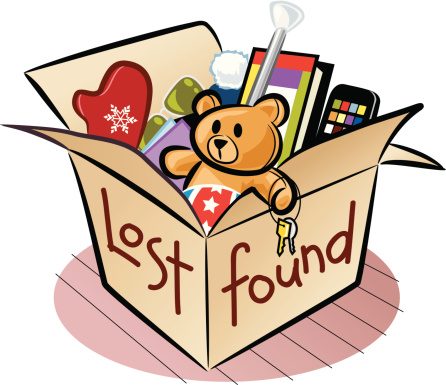 Lost and found clip art images.