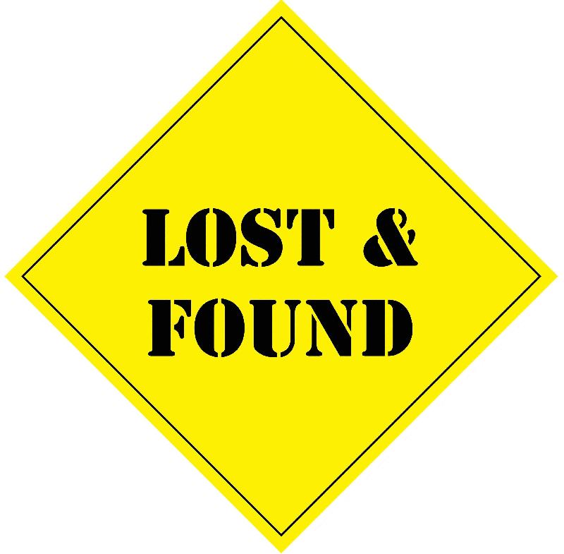 Lost and found sign clipart.