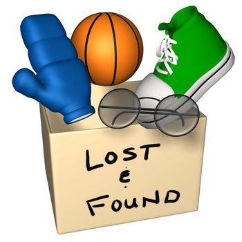 Lost and found clip art free.