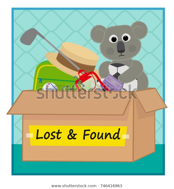 Lost Found Clip Art Box Lost Stock Vector (Royalty Free.
