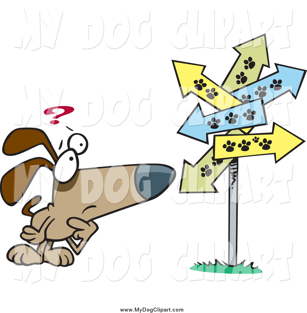 Lost dog signs clipart.