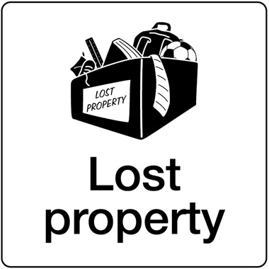 Lost property sign.