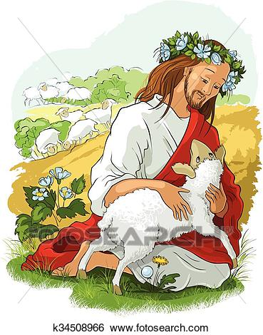 The parable of the lost sheep Clip Art.