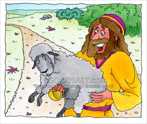 Lost Sheep Clipart.