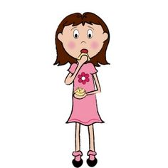 Showing post & media for Cartoon woman snacking.