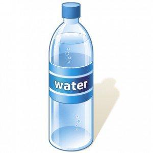 Drinking water bottle clipart.
