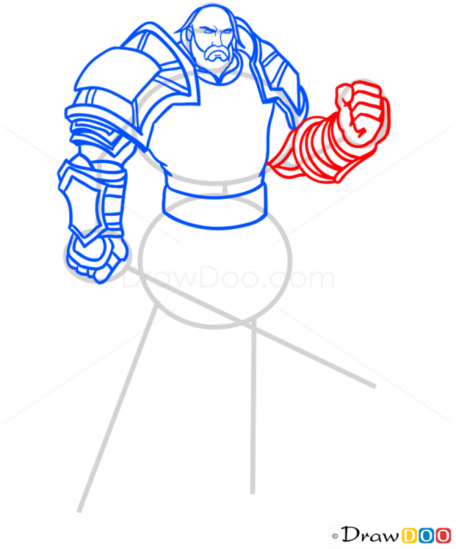 How to Draw Andulin Lothar, Warcraft.