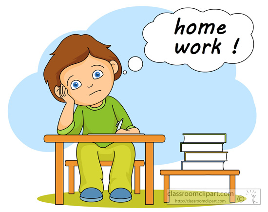 Lots of homework clipart.