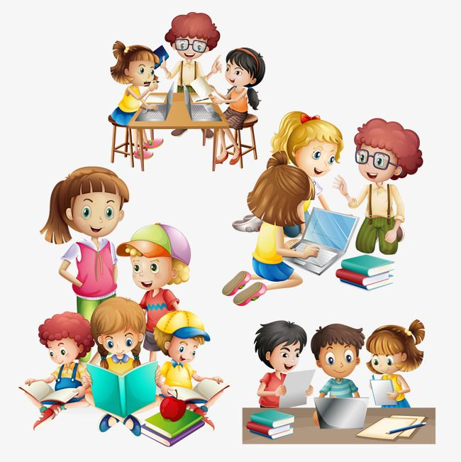 Vector Many Kids Do Different Activities, Kids Clipart.