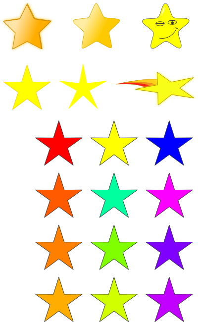 Hollywood Star Clipart.