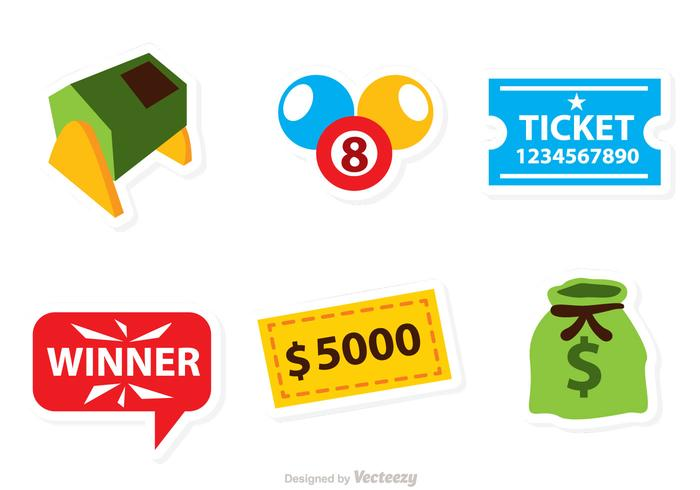 Vector Lottery Icons.