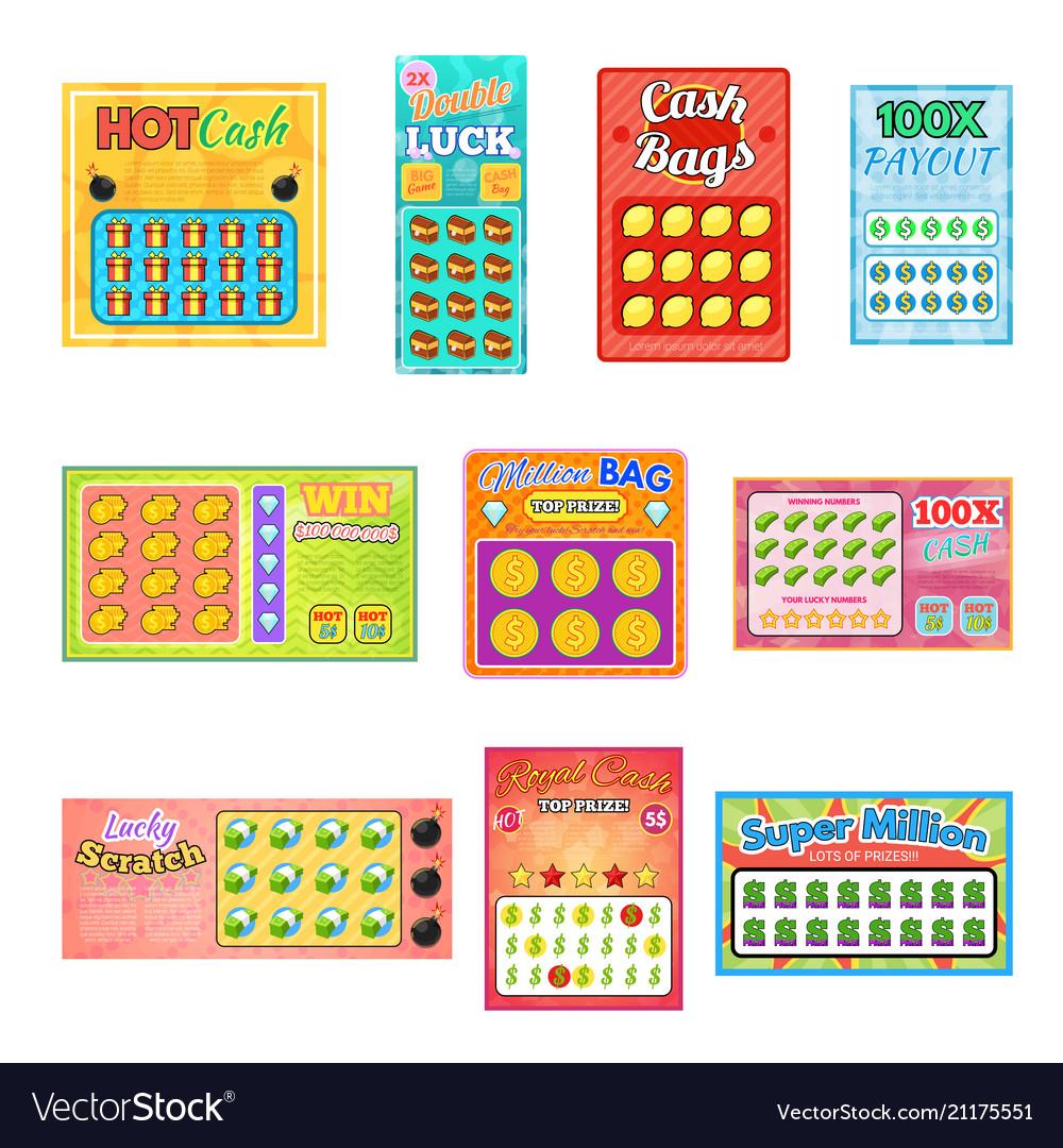 Lottery ticket lucky bingo card win chance.