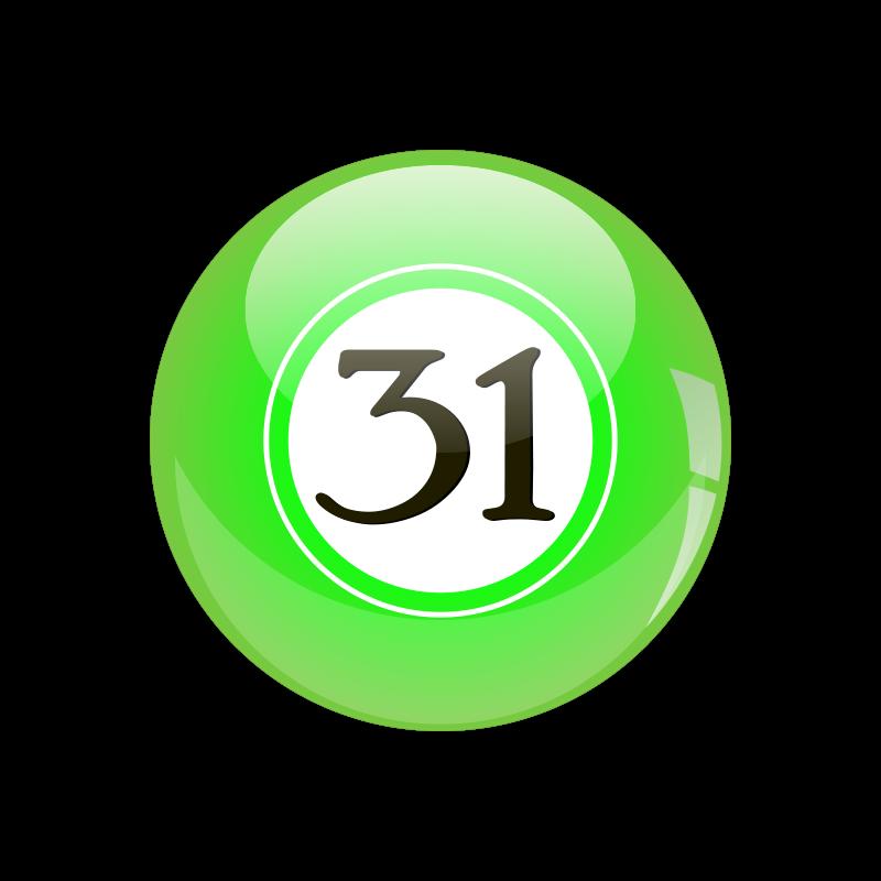 Free Clipart: #31 Lotto Ball.