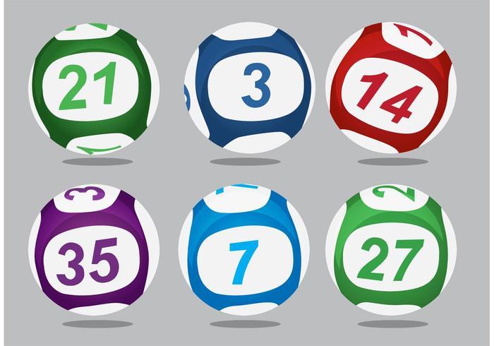 Lotto Balls Vectors.