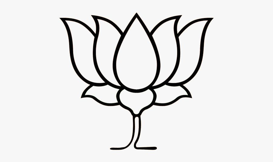 Lotus Clipart Black And White.