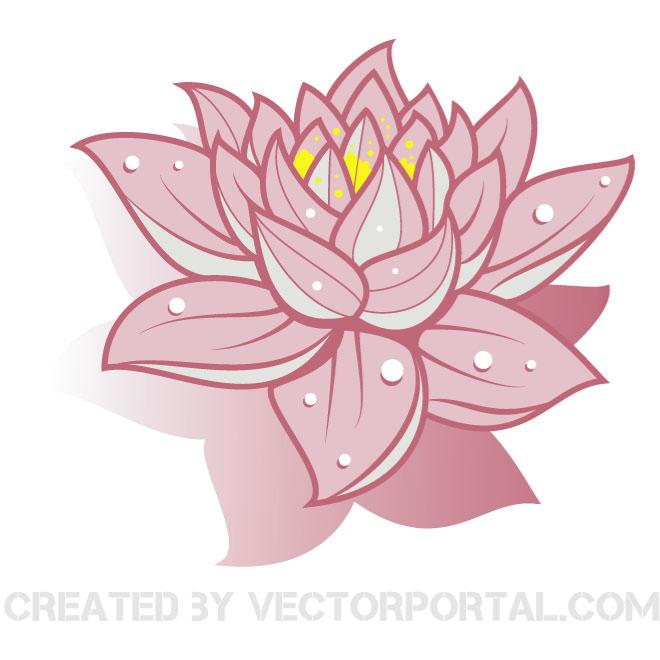 LOTUS FLOWER VECTOR CLIP ART.