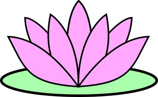 Pink Lotus Flower Clip Art at Clker.com.