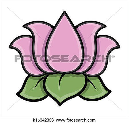 Clipart of Lotus Flower Vector k14801454.