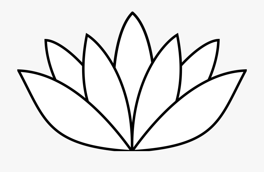 Banner Royalty Free Lotus Flower Clipart Black And.