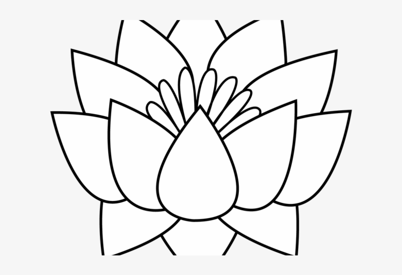 Lotus Tattoos Clipart Flower Border.