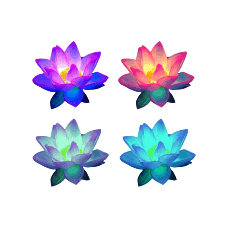 Lotus Flower Clip Art.