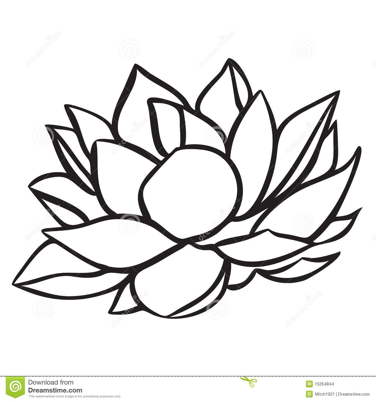 Lotus Flower Clipart Black White 20 Free Cliparts Download Images