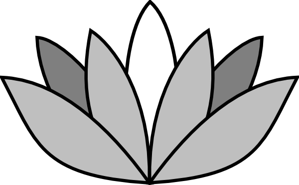 Lotus Flower Clip Art Black And White.