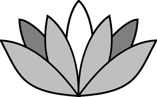 Lotus Flower Clip Art Black And White.