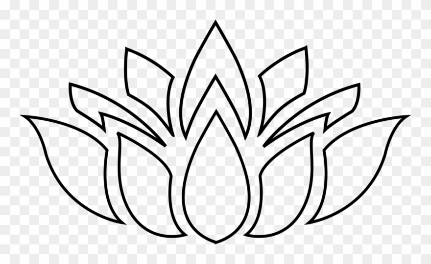 Pin Lotus Clipart Silhouette.