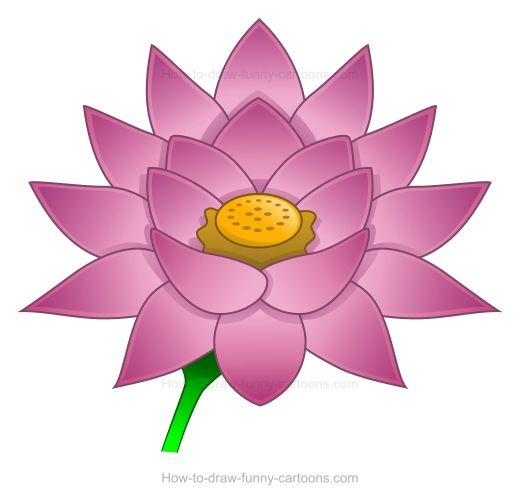 clip art lotus flower free.