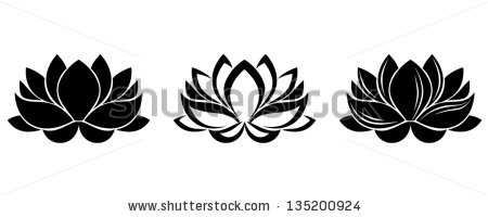 Black White Lotus Flower Drawing Stock Images, Royalty.