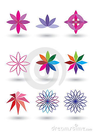 Lotus Flower Vector Illustration Royalty Free Stock Photography.