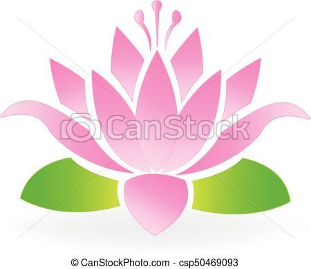 Blossom lotus flower logo.