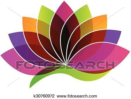 Lotus Flower logo Clipart.