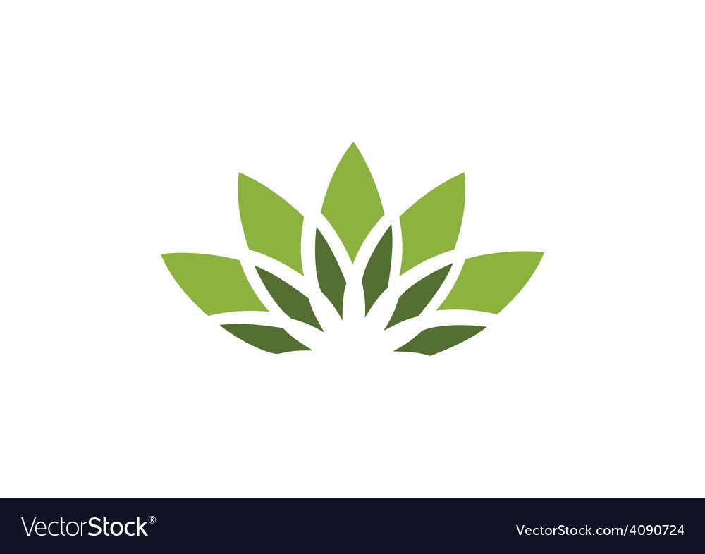 Lotus flower decorative logo.