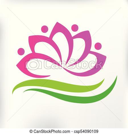 People lotus flower logo.