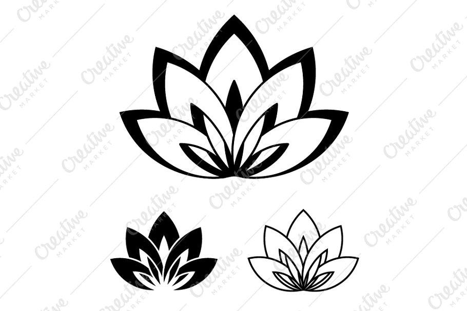 Lotus flower logo, a symbol of yoga.