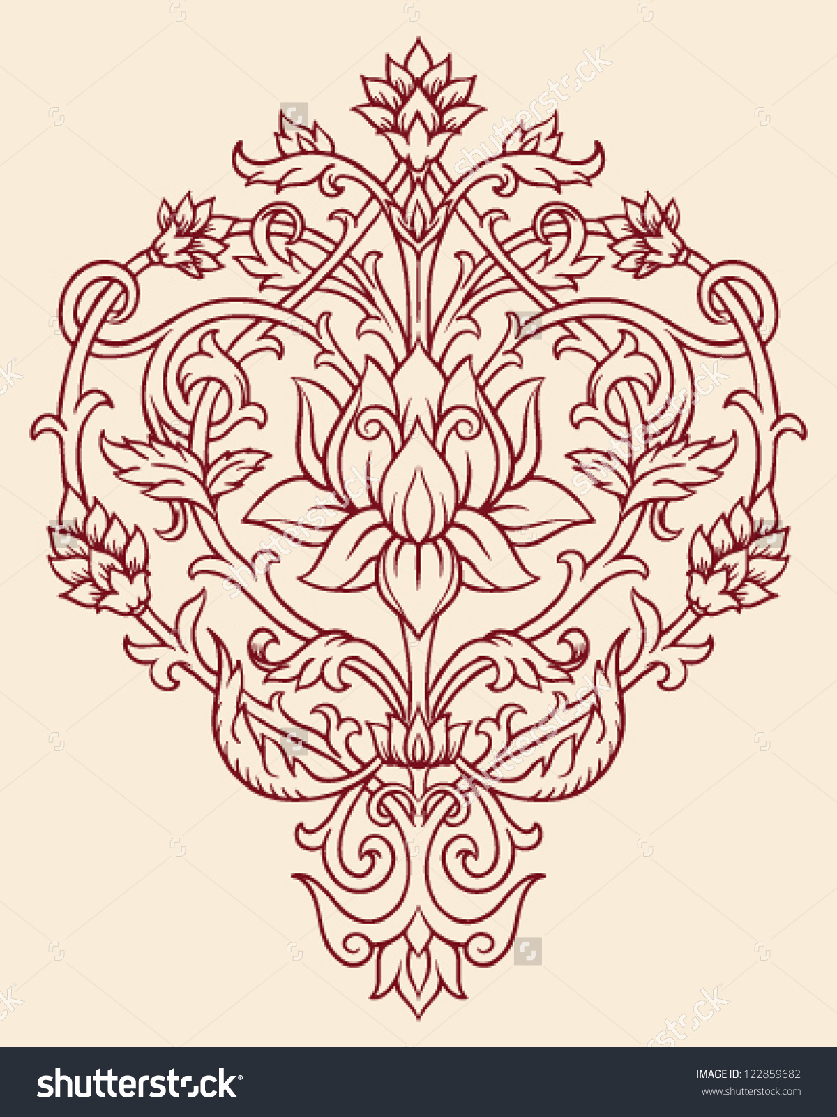 Lotus flower mandala clipart clipground ornate lotus flower vector izmirmasajfo