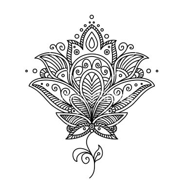 Lotus Flower Mandala Clipart.