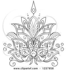 lotus flower design mandala.