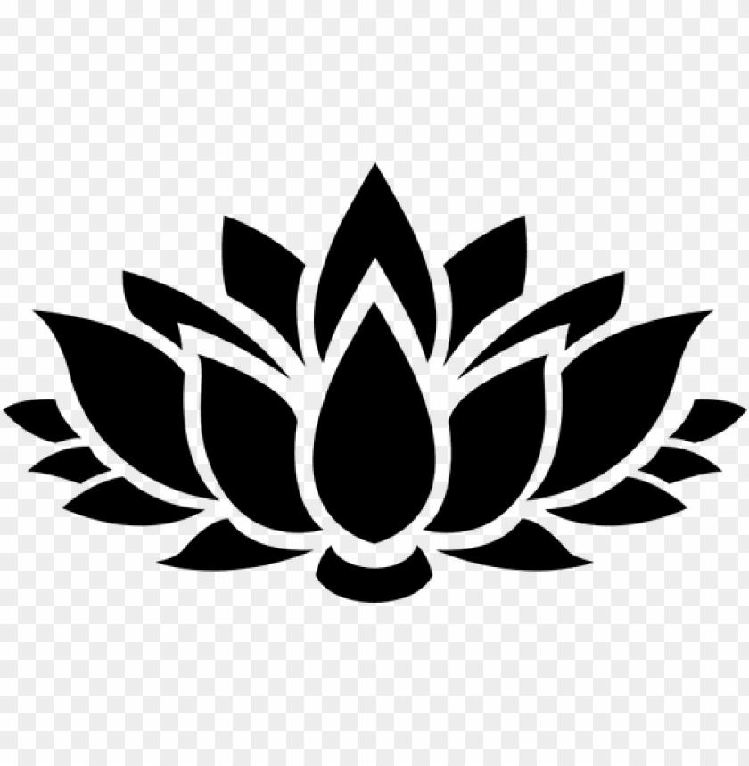 8627 lotus flower outline clip art free.