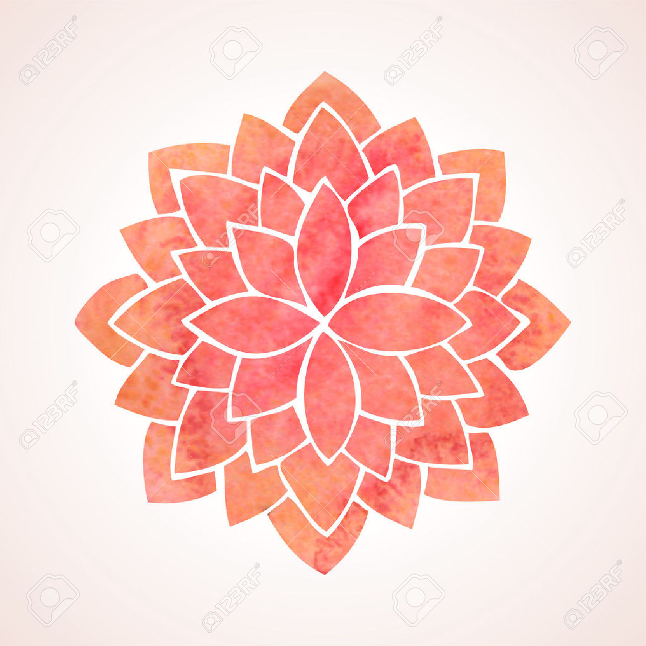 lotus flower pattern clipart #5