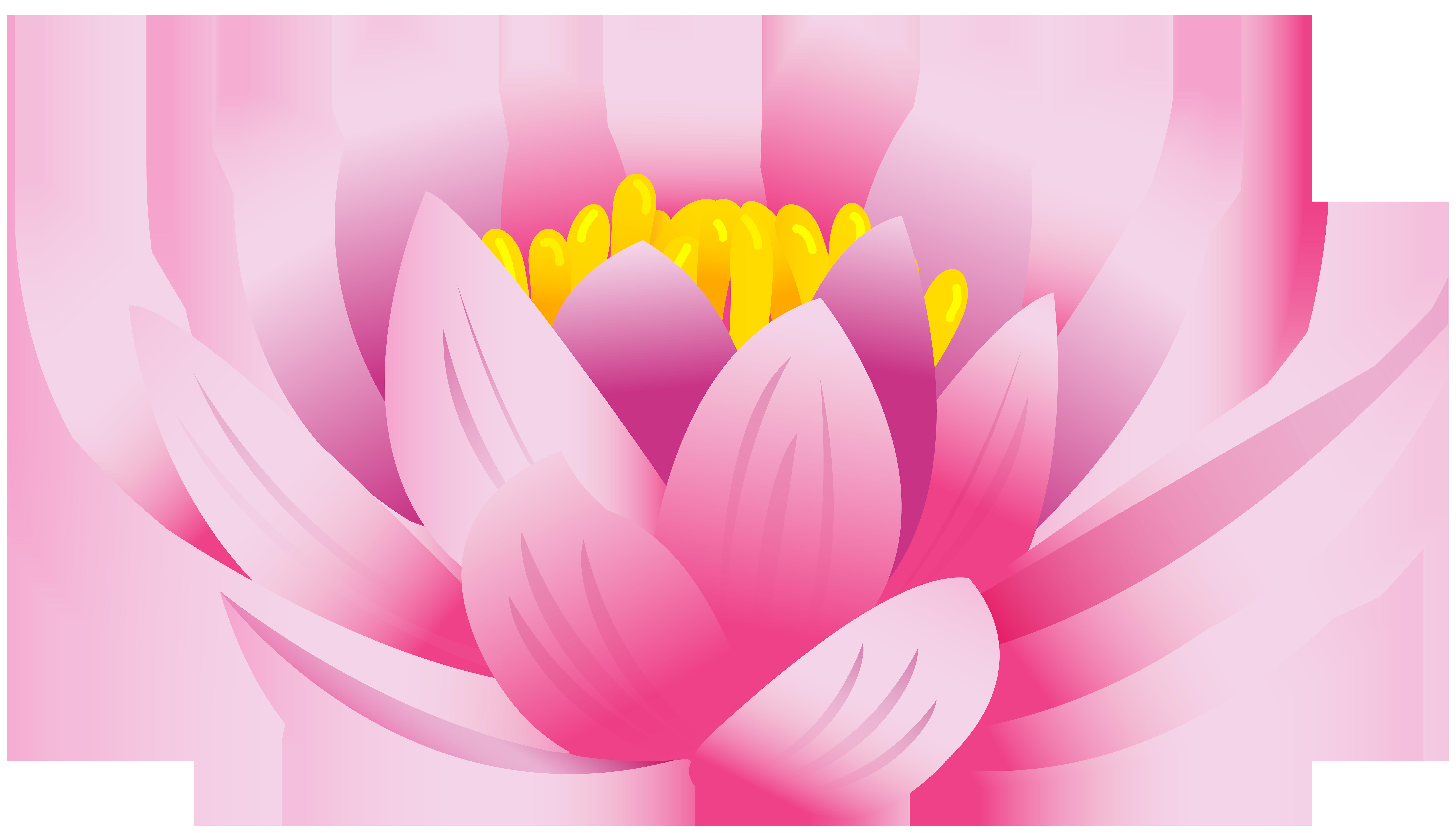 Lotus Flower PNG Clip Art Image.