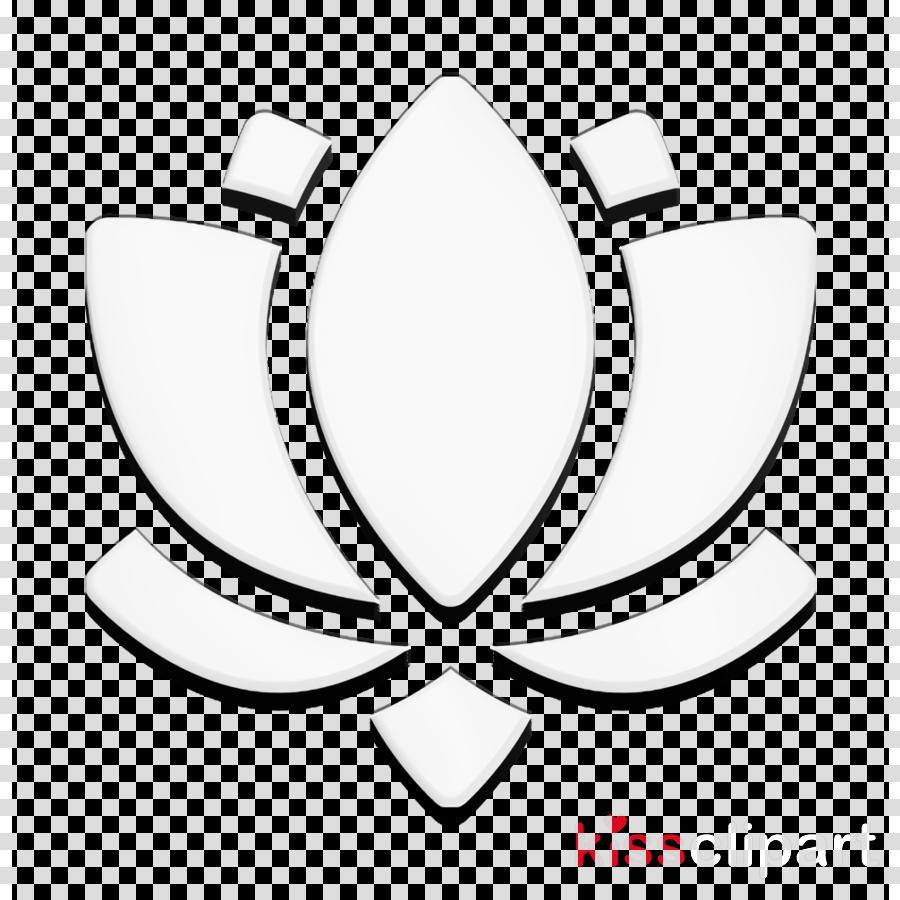 Flower icon Spiritual icon Lotus flower icon clipart.