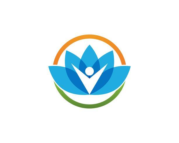 Beauty Vector lotus icon.