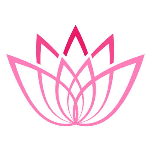 Stylized lotus flower symbol.